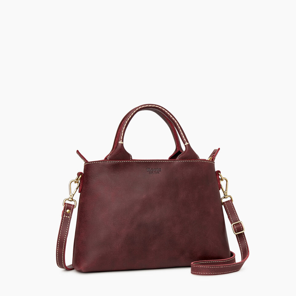 Roots-Articles En Cuir Sacs Style Urbain-Sac City Mont-Royal-Cramoisi-C