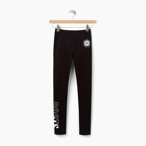 Roots-Kids Bottoms-Girls Roots Athletics Legging-Black-A