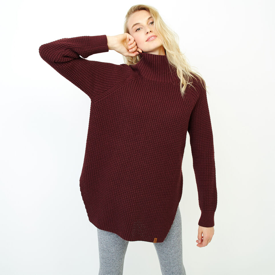 Roots-Women Our Favourite New Arrivals-Fraser Waffle Sweater-Crimson Mix-A