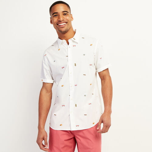 Roots-Sale Tops-Camp Scene Aop Shirt-Ivory-A