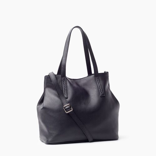 Roots-Leather New Arrivals-Amelia Tote Prince-Black-A