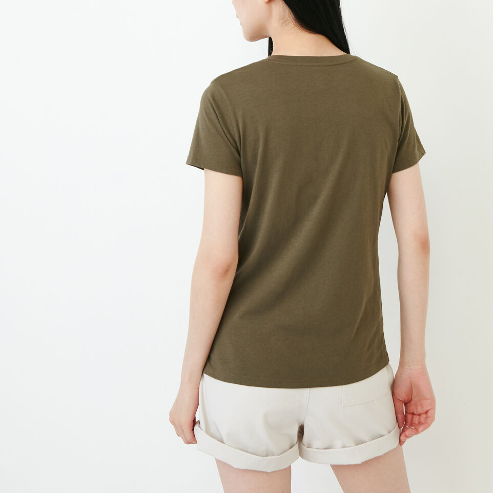 Roots-Women Our Favourite New Arrivals-Essential V T-shirt-Fatigue-D