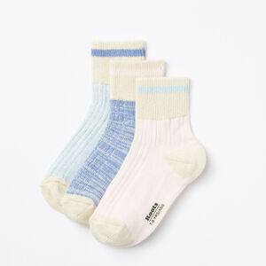 Roots-Kids Accessories-Kids Park Ankle Sock 3 Pack-Multi-A
