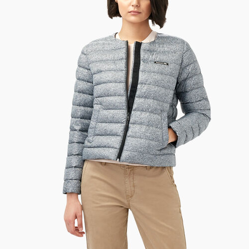 Roots-Sale Women-Luna Peak Down Jacket-Salt & Pepper-A