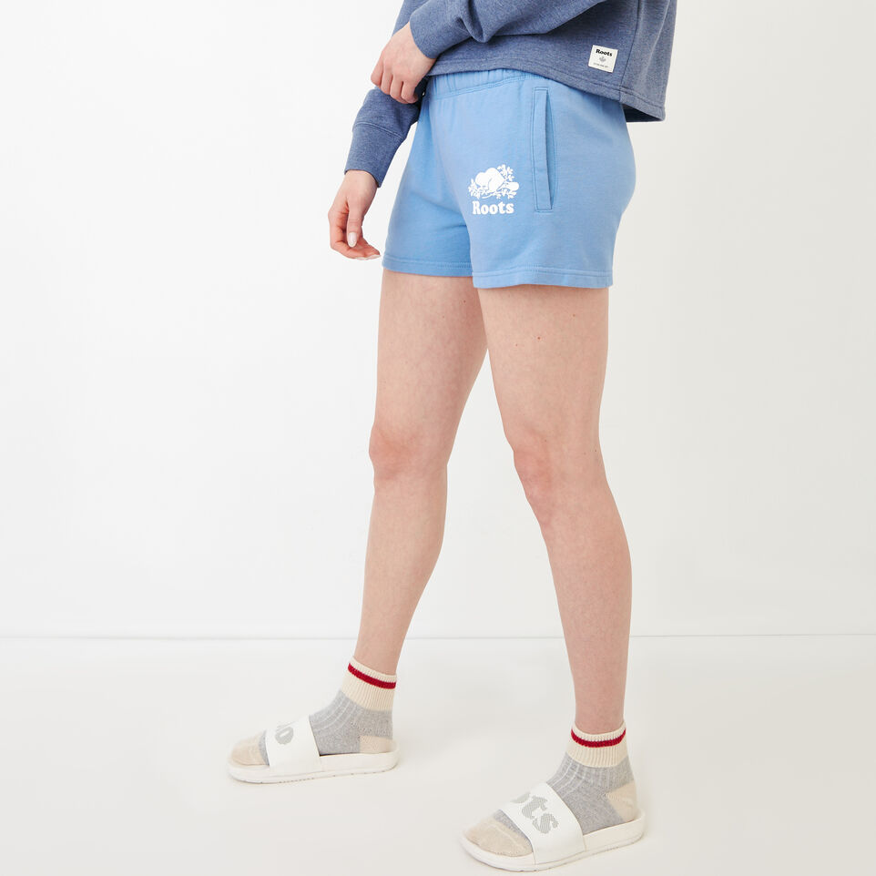 Roots-Women Our Favourite New Arrivals-Original Sweatshort-Blue Bonnet-C