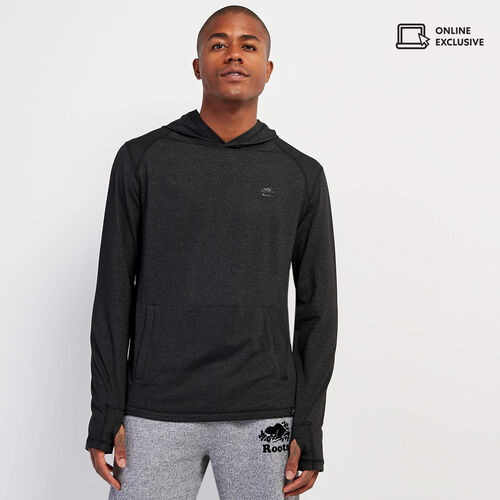 Roots-Men New Arrivals-Journey Hooded Long Sleeve Top-Black Mix-A