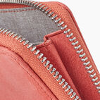 Roots-Leather New Arrivals-Small Zip Wallet Tribe-Coral-E