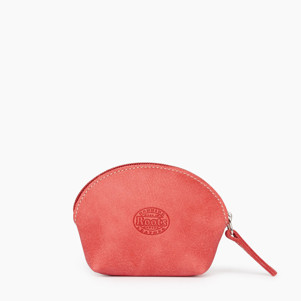 Roots-Leather New Arrivals-Small Euro Pouch-Coral-B