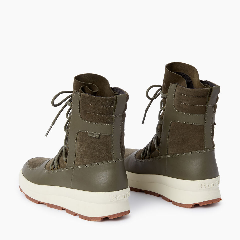 Roots-Clearance Footwear-Womens St Laurent Boot-Dusty Olive-E