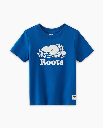 Roots-Kids T-shirts-Toddler Original Cooper Beaver T-shirt-Classic Blue-A