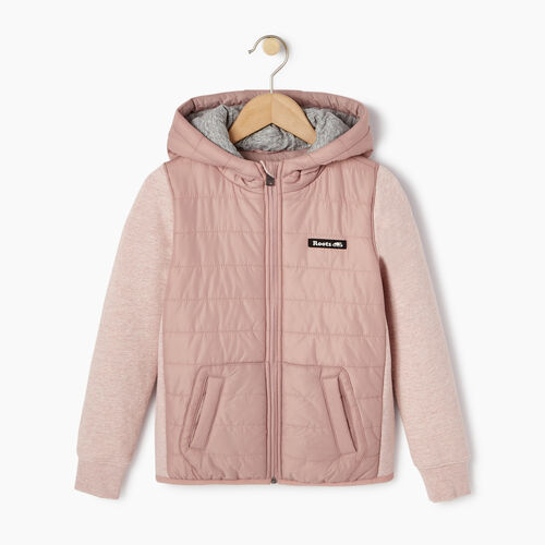 Roots-Kids Categories-Girls Roots Hybrid Hoody Jacket-Woodrose-A