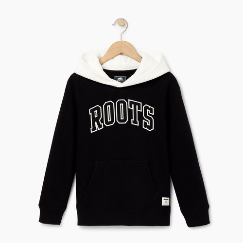 Roots-Clearance Kids-Boys 2.0 Colourblock Raglan Hoody-Black-A