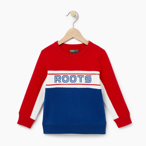 Roots-Winter Sale Toddler-Toddler Sportsmas Crew Sweatshirt-Active Blue-A
