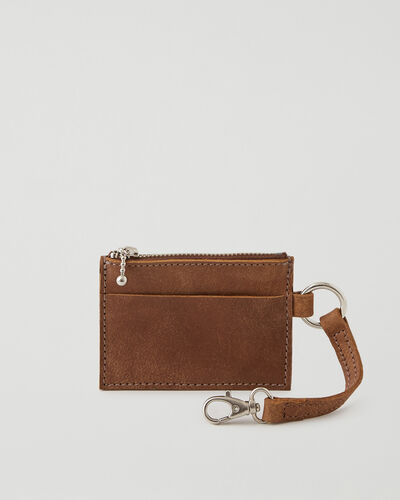 Roots-Leather Leather Accessories-Small Zip Pouch Tribe-Natural-A