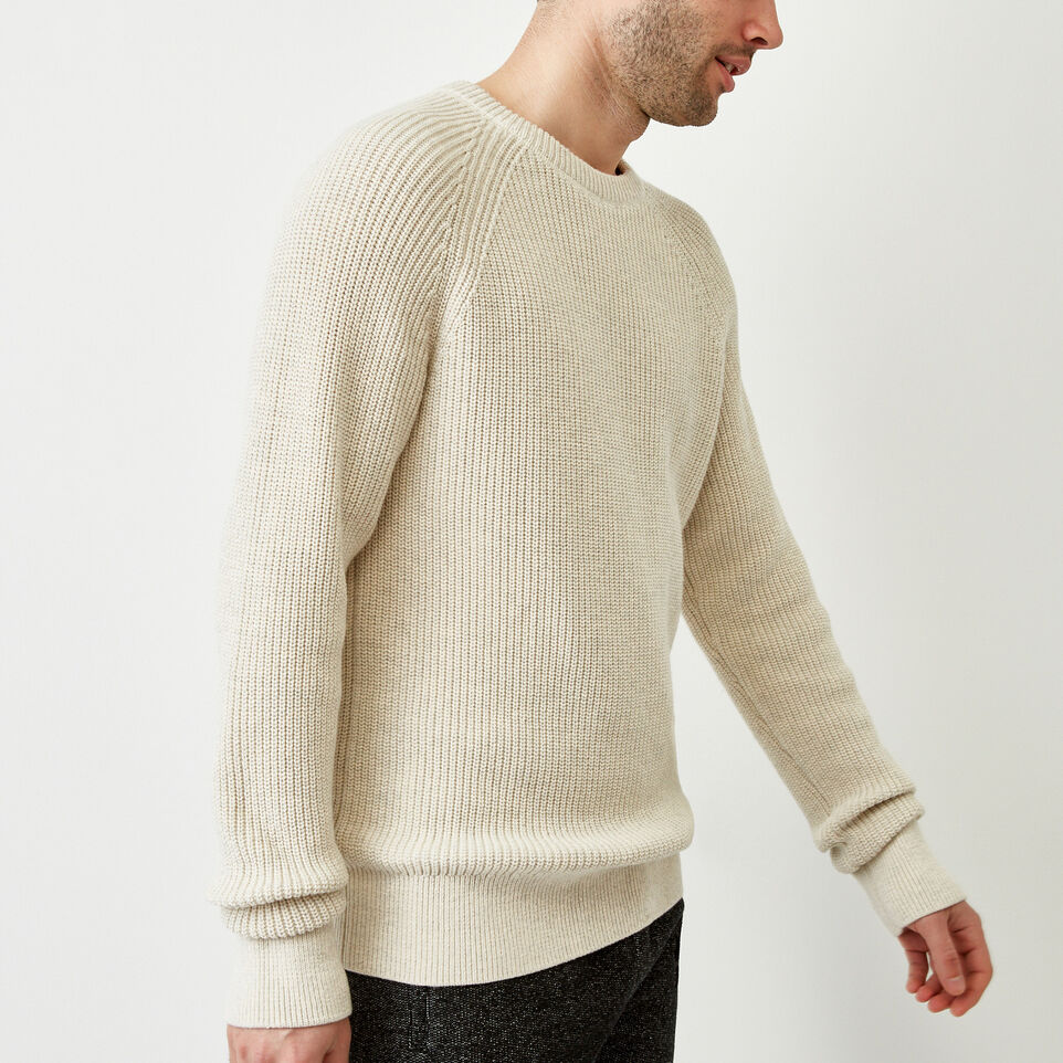 Roots-Men Our Favourite New Arrivals-Baffin Fishermans Sweater-Oatmeal Mix-C