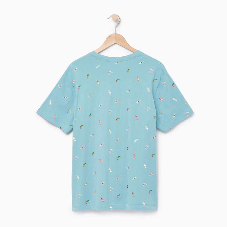 Roots-Men Our Favourite New Arrivals-Mens Surfer T-shirt-Cameo Blue-B