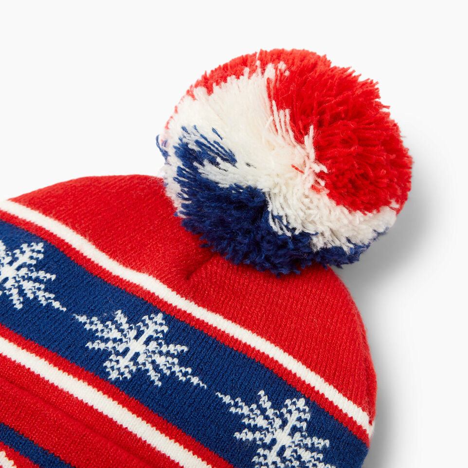 Roots-Kids Our Favourite New Arrivals-Kids Retro Fair Isle Toque-Racing Red-D