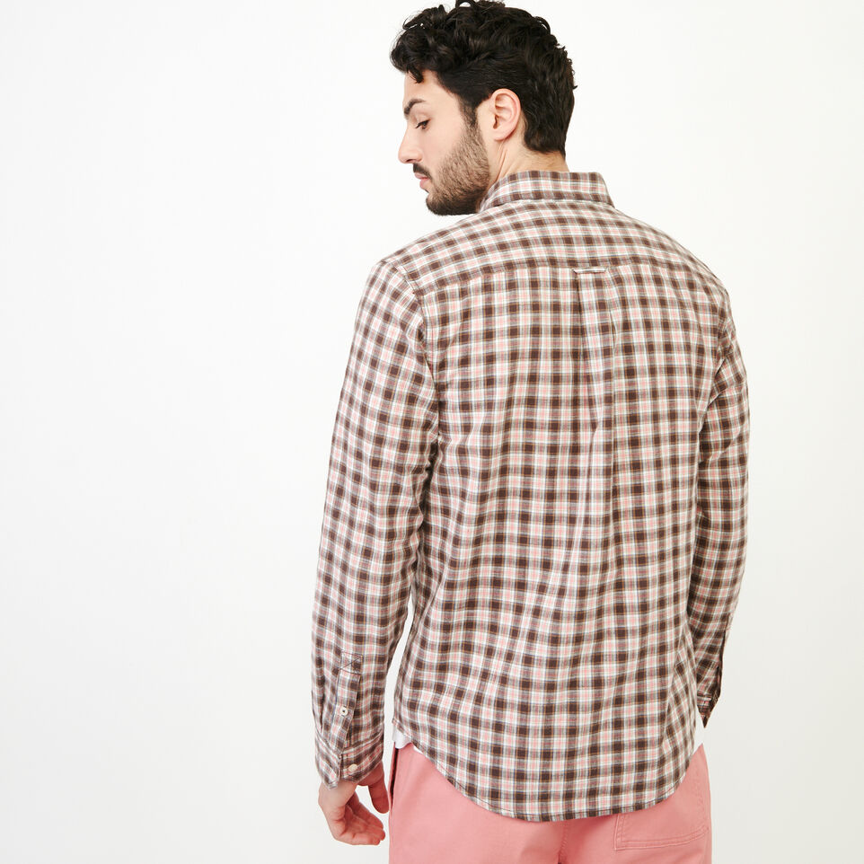 Roots-Men Our Favourite New Arrivals-Windermere Long Sleeve Shirt-Sunset Apricot-D