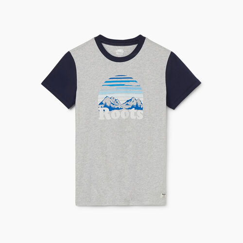 Roots-Sale Tops-Womens Watson T-shirt-Snowy Ice Mix-A