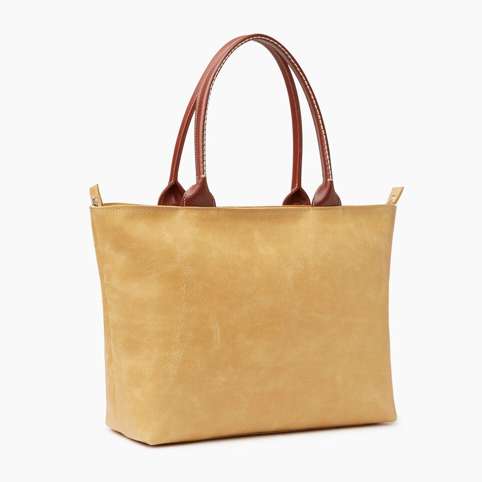 Roots-Leather Our Favourite New Arrivals-Mont Royal Tote-Medallion/oak-C