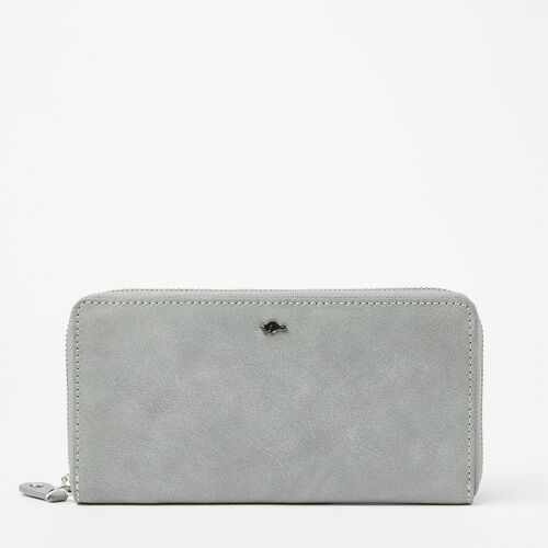 Roots-Women Wallets-Zip Around Wallet Tribe-Quartz-A
