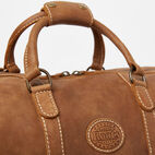 Roots-Leather Weekender Bags-Large Banff Bag-Natural-D
