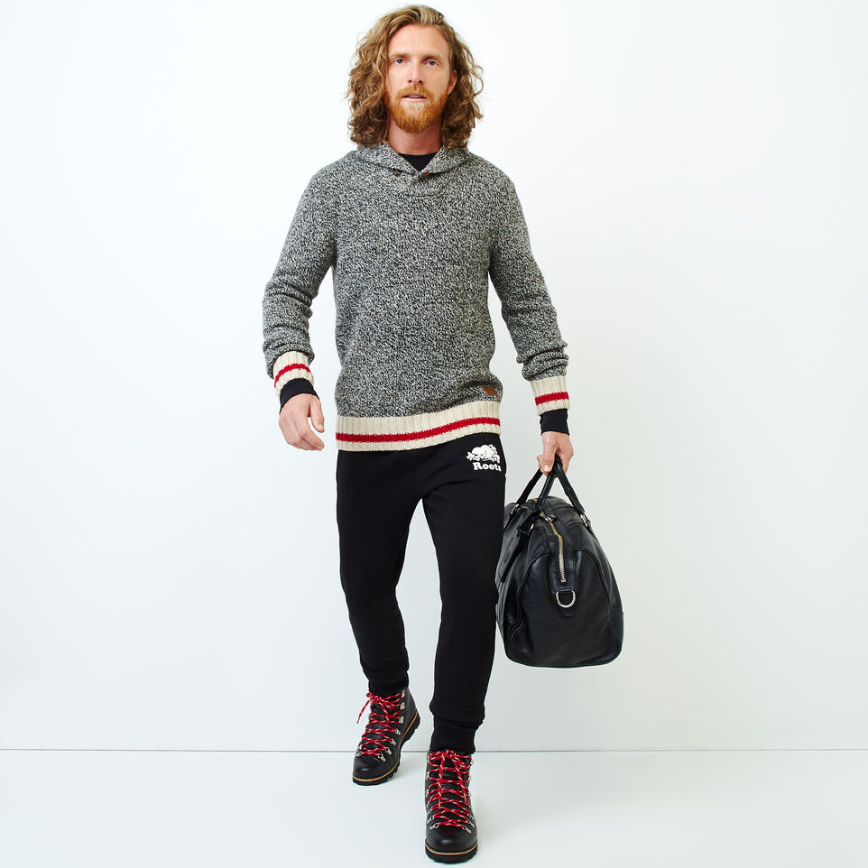 Roots-Men Our Favourite New Arrivals-Roots Cabin Shawl Pullover Sweater-Grey Oat Mix-B