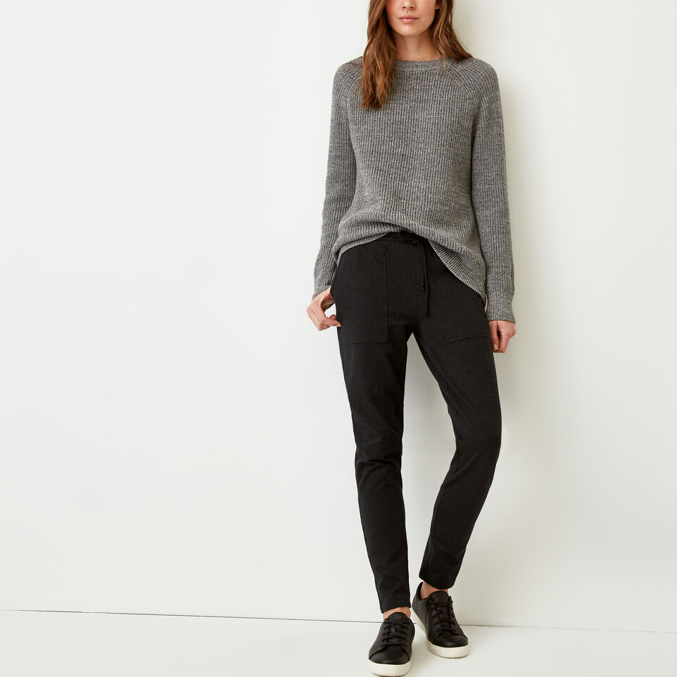 Roots-Women Our Favourite New Arrivals-Kelby Jogger-Black Mix-B