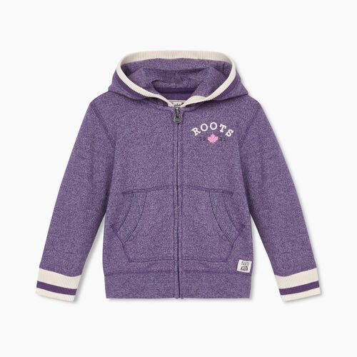 Roots-Sweats Toddler Girls-Toddler Cabin Cozy Full Zip Hoody-Loganberry Pepper-A