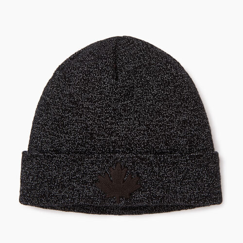 Roots-Men Our Favourite New Arrivals-Snowy Fox Leaf Toque-Black Fox-A