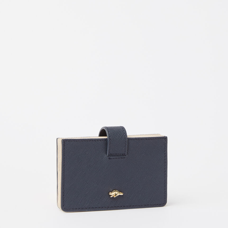 Roots-undefined-Multi Card Holder Saffiano-undefined-D