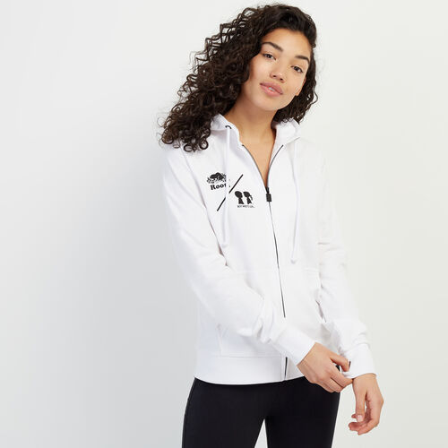 Roots-New For May Roots X Boy Meets Girl-Roots x Boy Meets Girl - CFI Full Zip Hoody-White-A
