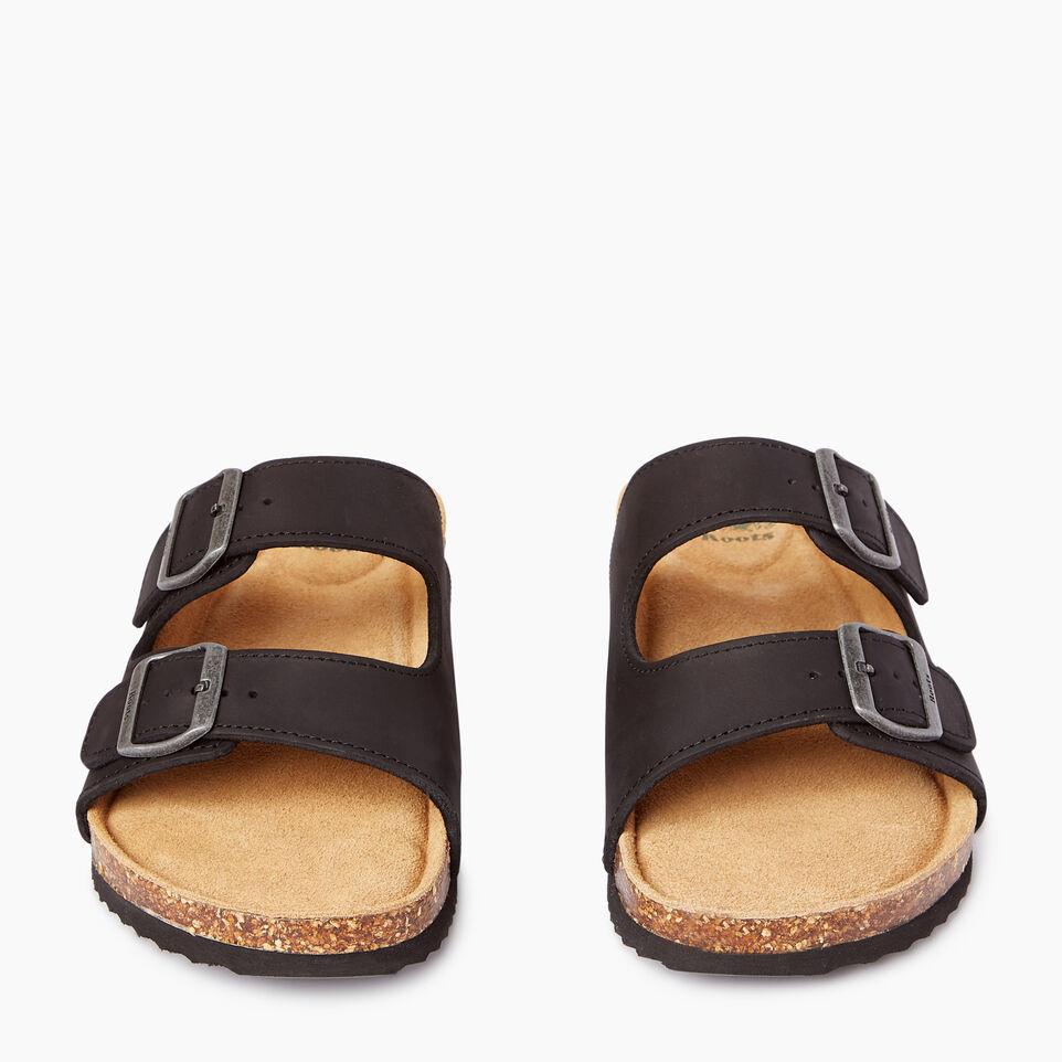 Roots-Footwear Men's Footwear-Mens Natural 2 Strap Sandal-Black-D