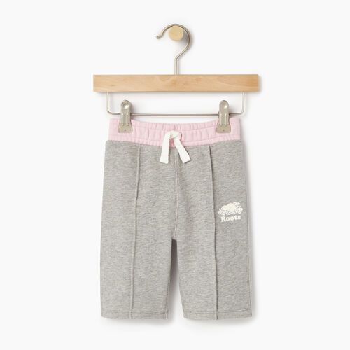Roots-Kids Sweats-Baby Colour Block Sweatpant-Grey Mix-A