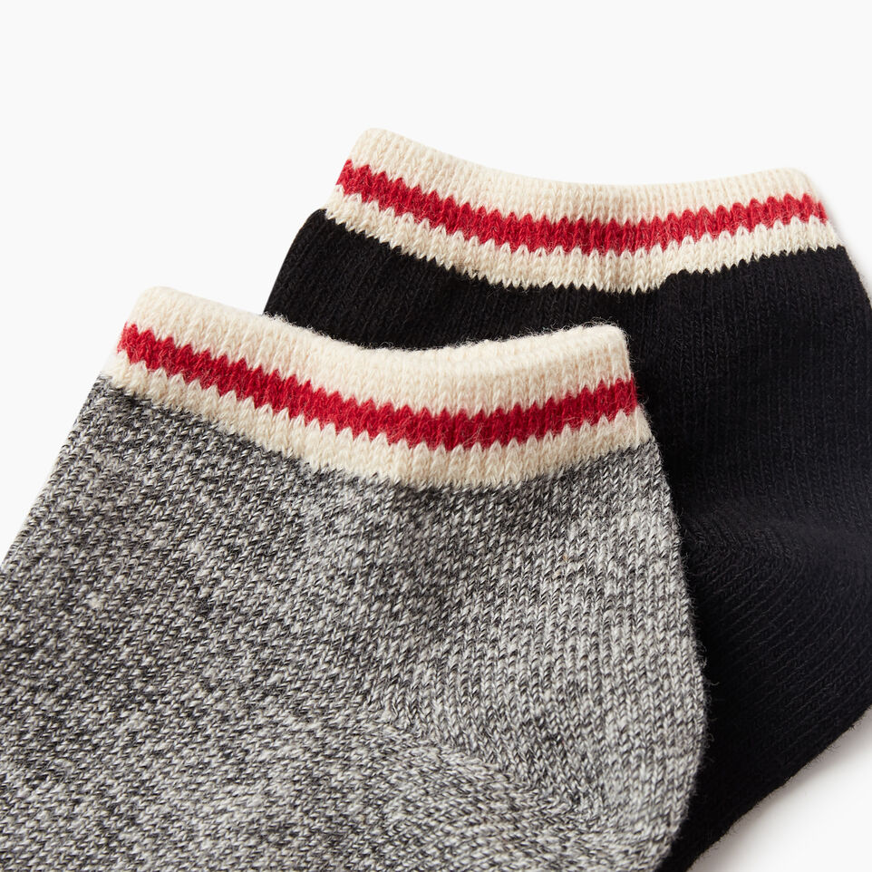 Roots-undefined-Womens Cotton Cabin Ped Sock 2 pack-undefined-D