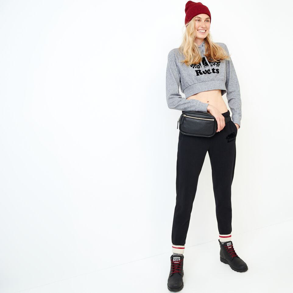 Roots-Women Our Favourite New Arrivals-Roots Salt and Pepper Cropped Hoody-Salt & Pepper-B
