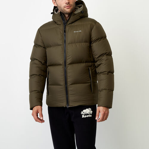Roots-Men Outerwear-Peakside Parka-Fatigue-A