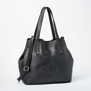 Roots-Leather New Arrivals-Amelia Tote Tribe-Jet Black-A