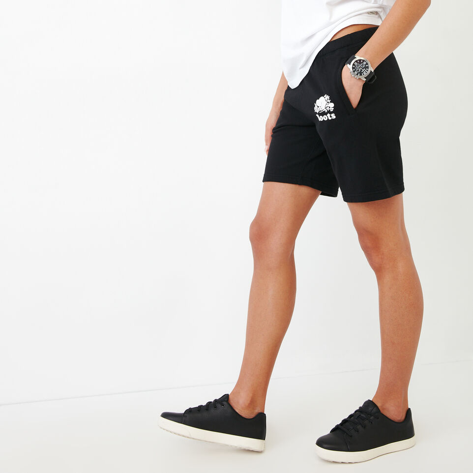 Roots-Women Categories-Original Longer Sweatshort-Black-C