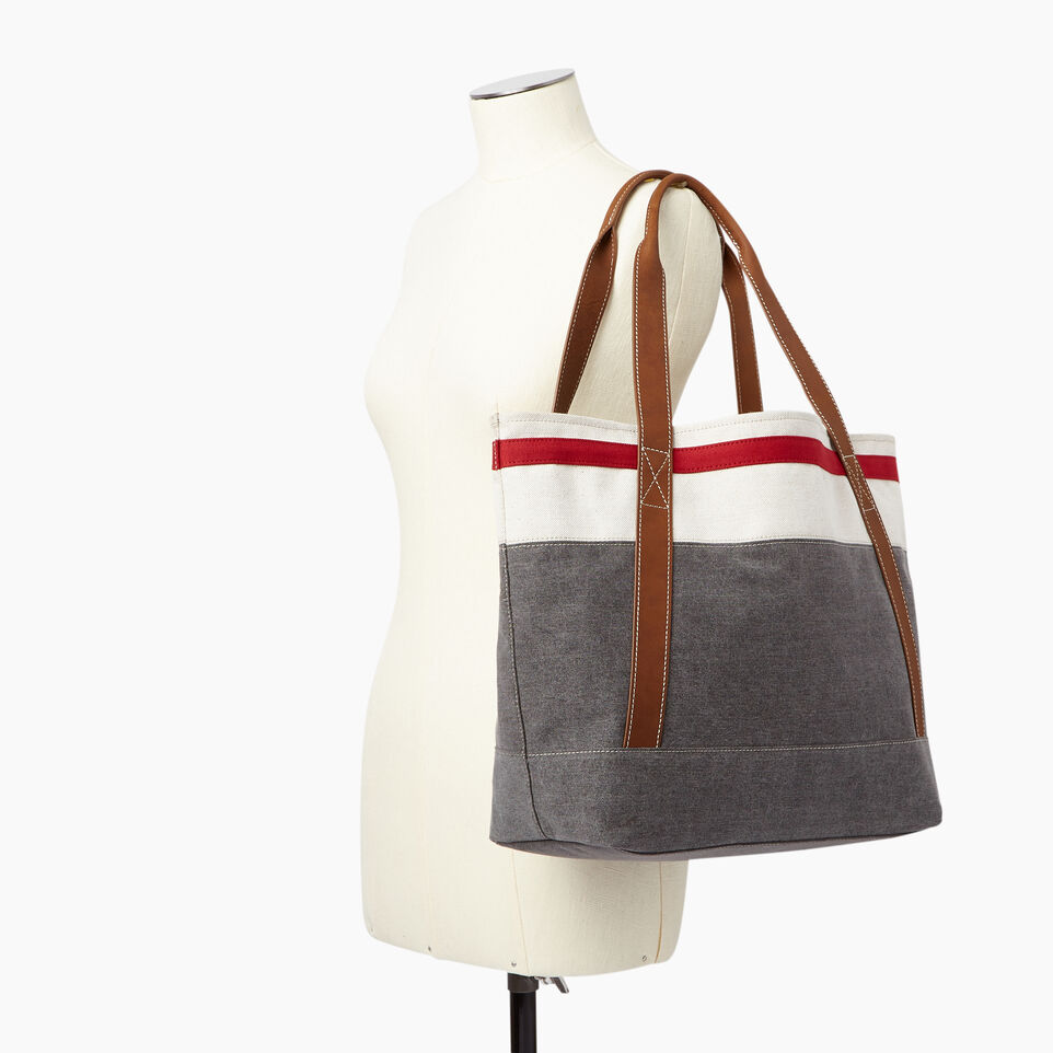 Roots-Women General Store-Cabin Tote-Grey Oat Mix-B