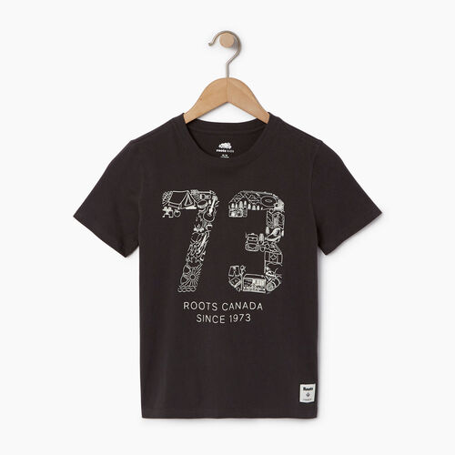 Roots-Kids Our Favourite New Arrivals-Boys Roots Paddle T-shirt-Coal Grey-A