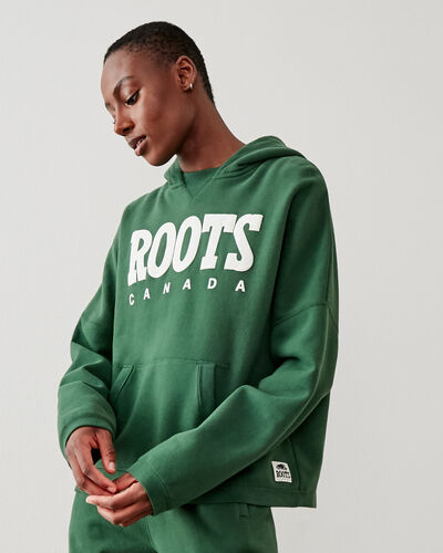Roots-New For This Month Roots Retro-Retro Hoody-Camp Green-A