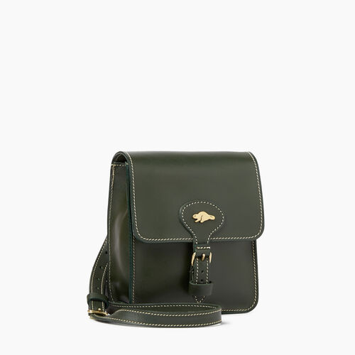 Roots-Winter Sale Leather Bags & Accessories-Money Bag Heritage-Hunter Green-A