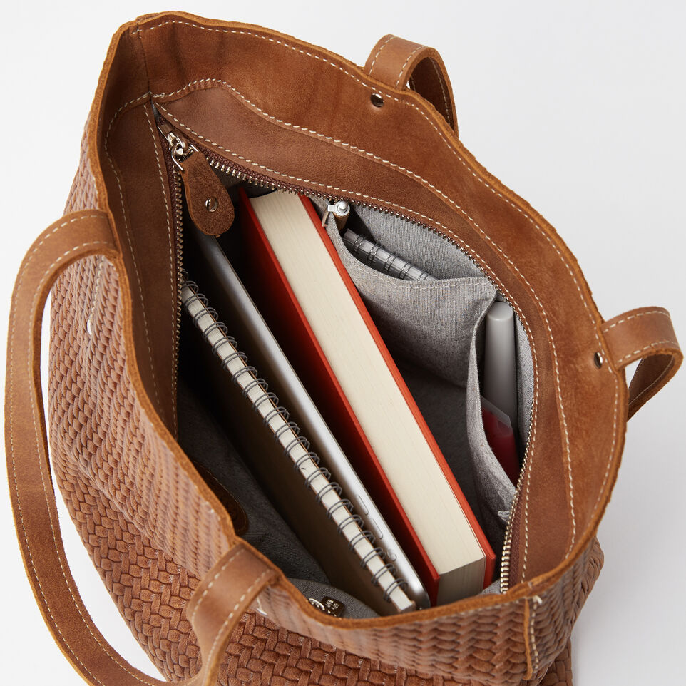 Roots-undefined-Downtown Zip Tote Woven Tribe-undefined-E