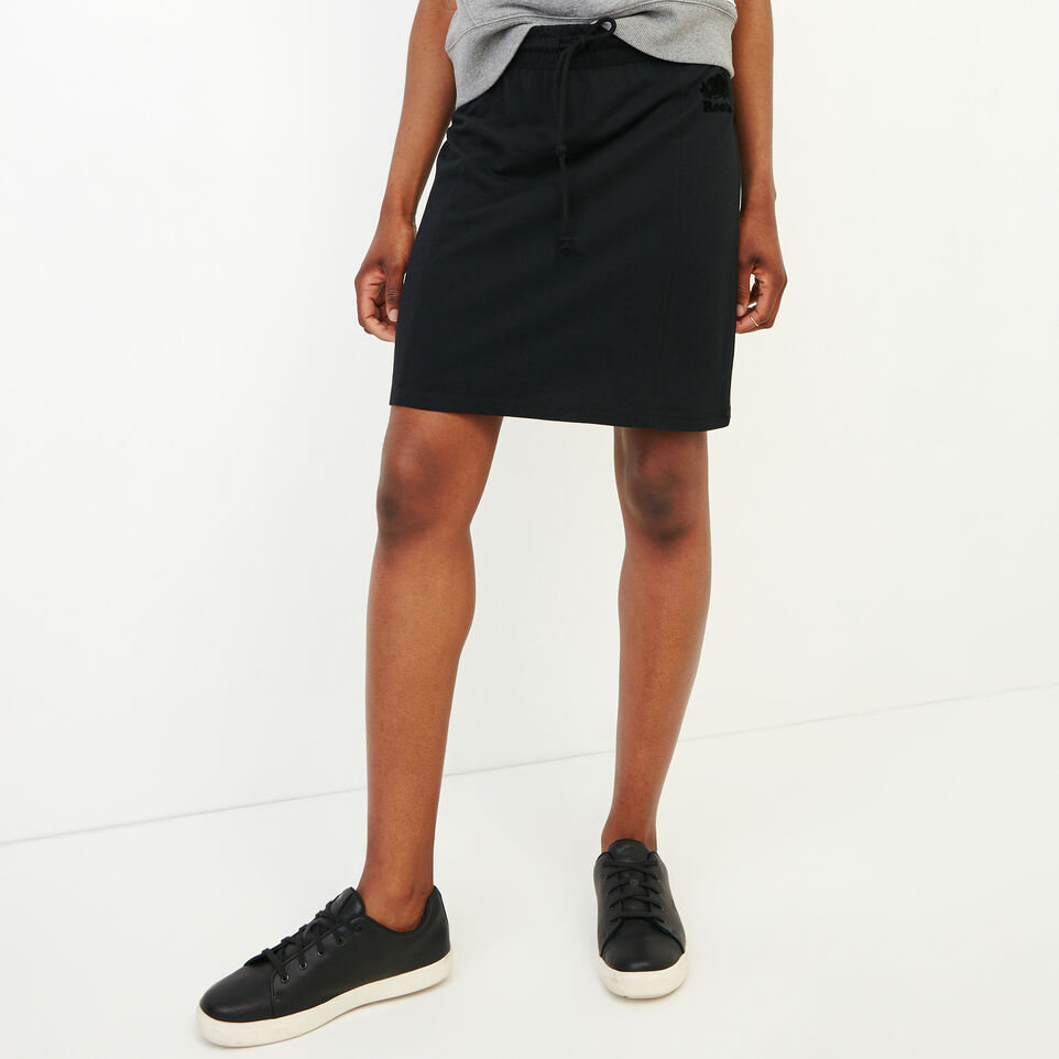 Roots-Women Our Favourite New Arrivals-Summerside Skirt-Black-A