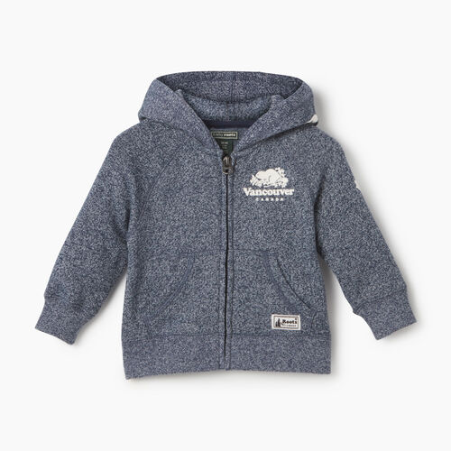 Roots-Kids Tops-Baby Boy Vancouver Ski City Full Zip Hoody-Blue Iris Pepper-A