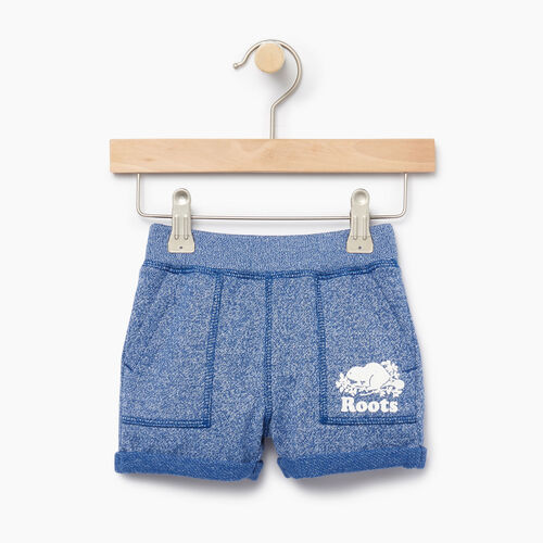 Roots-Clearance Kids-Baby Park Short-Active Blue Pepper-A