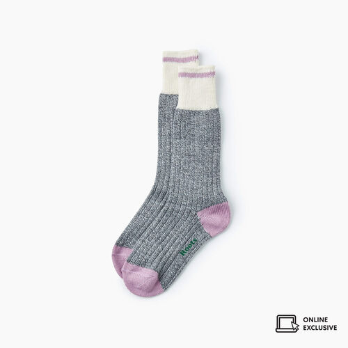 Roots-Gifts Lounge-Womens Roots Pop Cabin Sock 3 Pack-Valerian-A