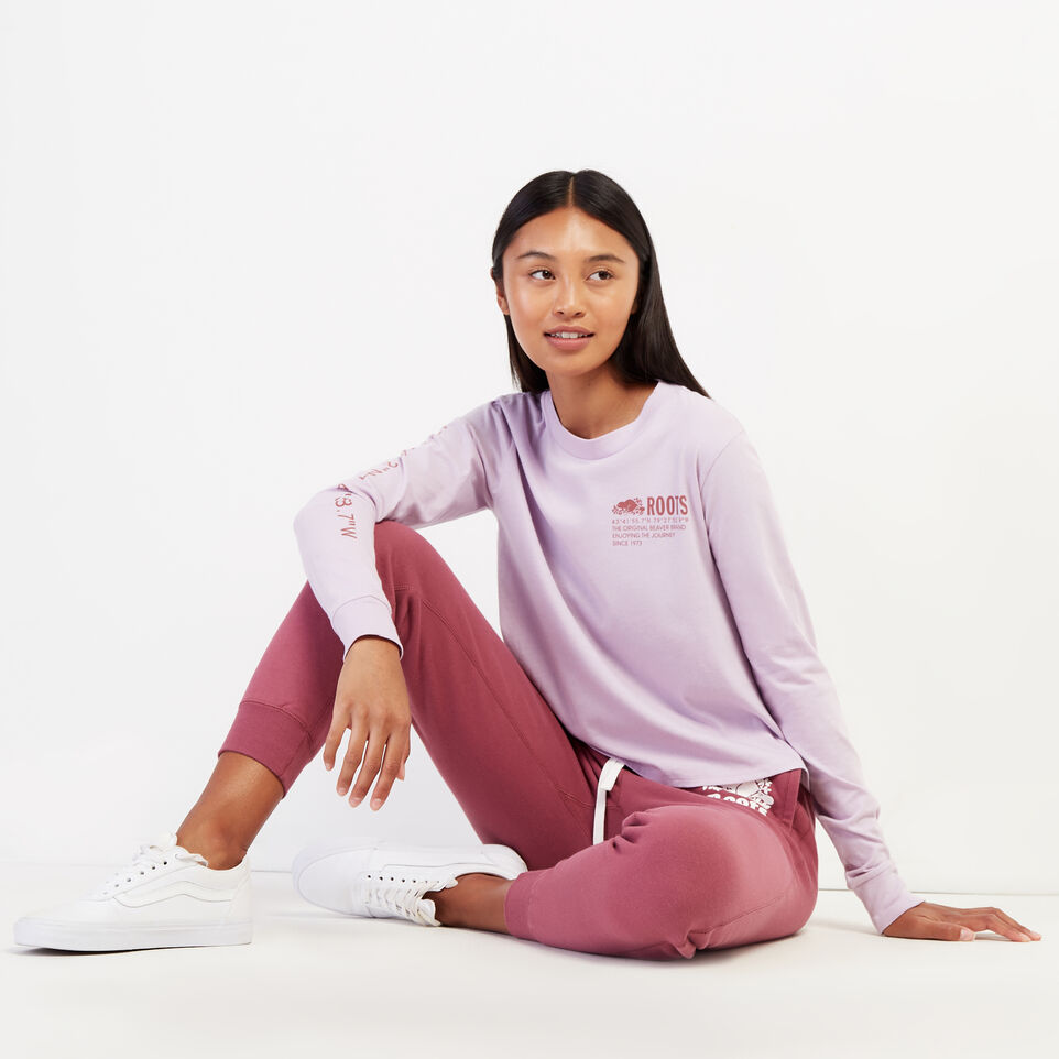 Roots-undefined-Womens Surplus Long Sleeve T-Shirt-undefined-)