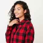 Roots-undefined-Box Cut Flannel Shirt-undefined-E